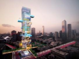 Shenzhen mit Vertiports (Visualisierung)