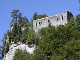 Die Ruine Grasburg in der Gemeinde Schwarzenburg