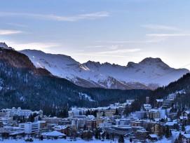 Sonnenaufgang bei St. Moritz