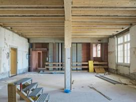 Bauarbeiten am Kasernen-Hauptbau in Basel-Stadt