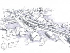 Visualisierung von neuem Bahnhof Jegenstorf