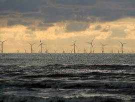 Windpark am Meer.