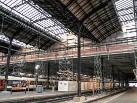 Sanierung der über hundert Jahre alten Perronhalle des Bahnhof Basel SBB