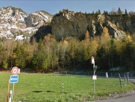 Felsabrissstelle beim unterirdischen Munitionslager in Mitholz