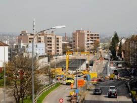 Bauarbeiten zur Einhausung Schwamendingen