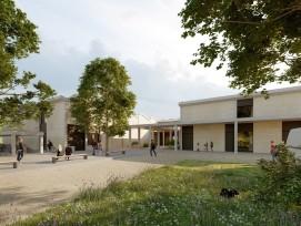 Visualisierung des Ersatz-Neubaus der Heilpägagogischen Schule Bern
