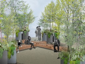 Visualisierung Neugestaltung von Merkurplatz in Winterthur