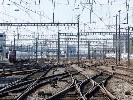Schienen beim Hauptbahnhof Zürich