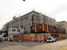 Baustelle zur Sanierung des Kongresshauses in Zürich