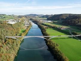 Visualisierung der neuen Strassenbrücke Eglisau