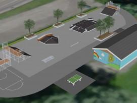 Visualisierung Skate- und Freitzeitparks in Ruopigen