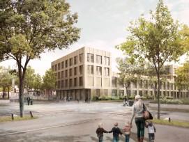 Visualisierung der Schule Spitalacker in Bern