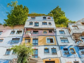 Hundertwasserhaus in Wien, Fassade.