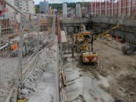 Baustelle zum Franklinturm in Zürich-Oerlikon