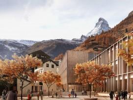 Visualisierung neues Schulhaus Zermatt