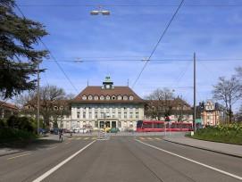 Visualisierung Viktoriaplatz aus Richtung Kornhausstrasse