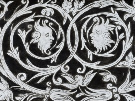 Sgraffito, Detail.