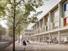 Visualisierung Neubau für Frauenklinik und Kinderspital in Luzern