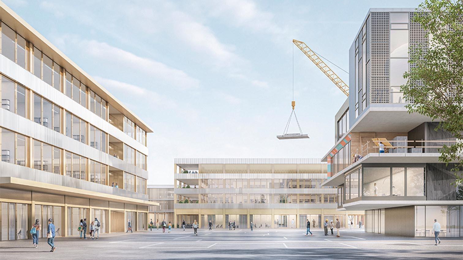 Visualisierung neuer Campusplatz der Empa