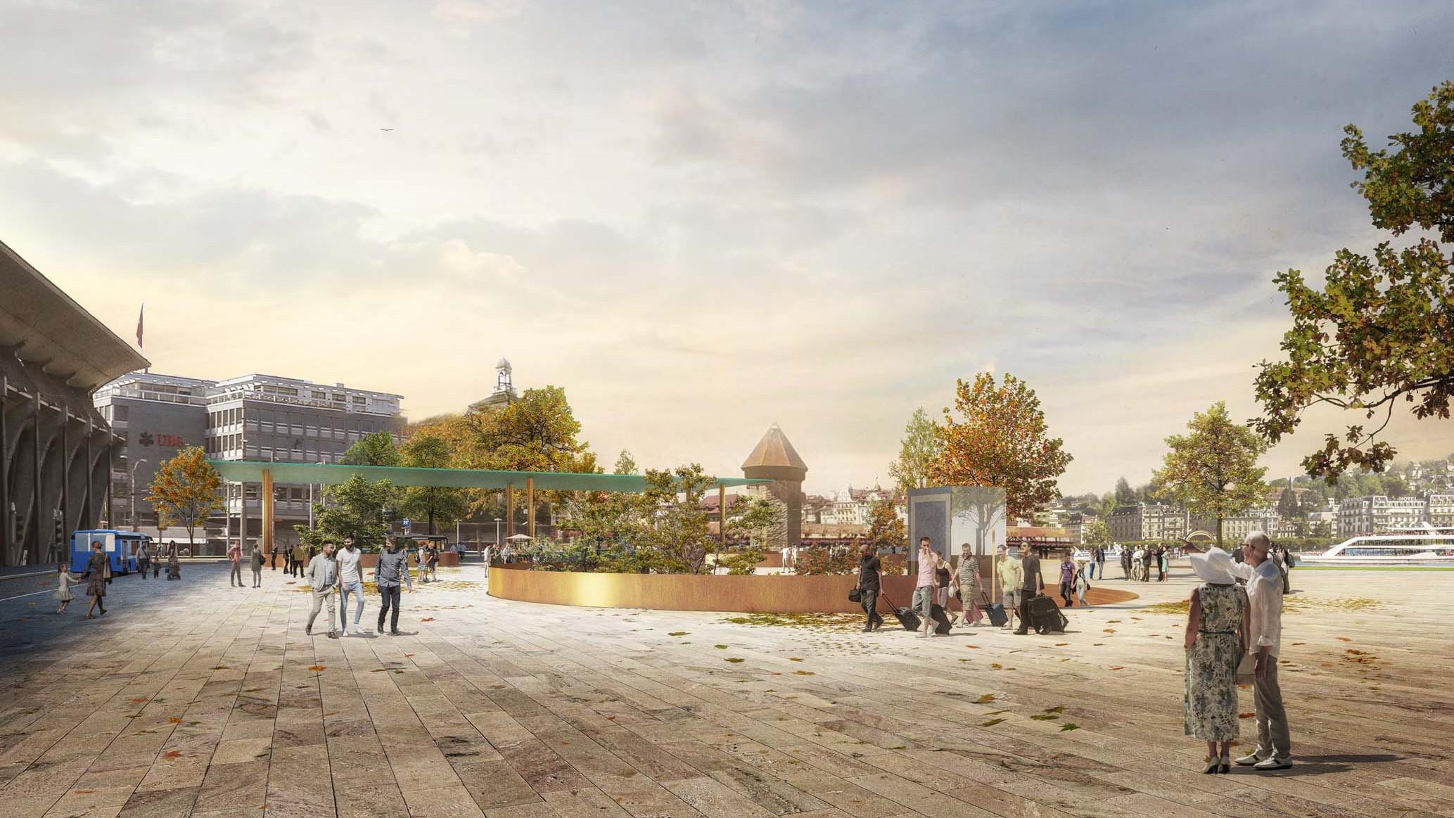 Visualisierung Testplanung für Stadtzentrum von Luzern