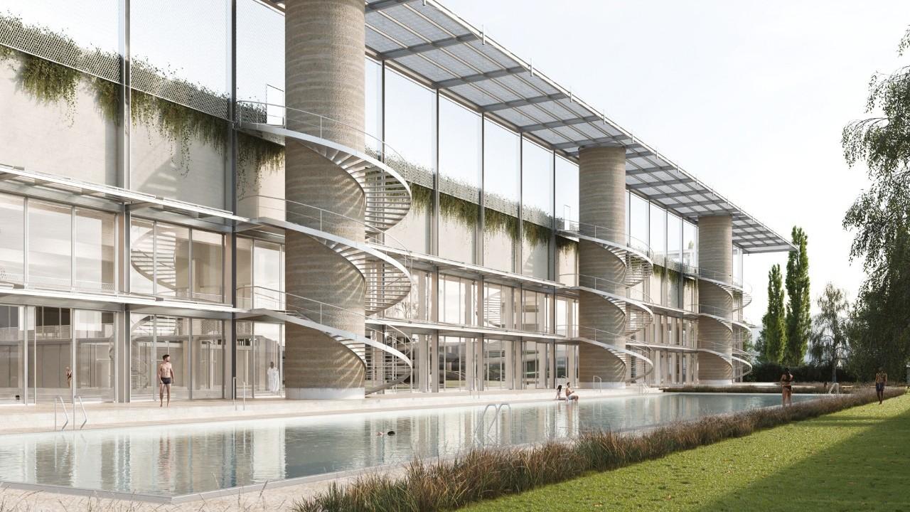 Visualisierung Projekt Ammonit Sportzentrum Oerlikon