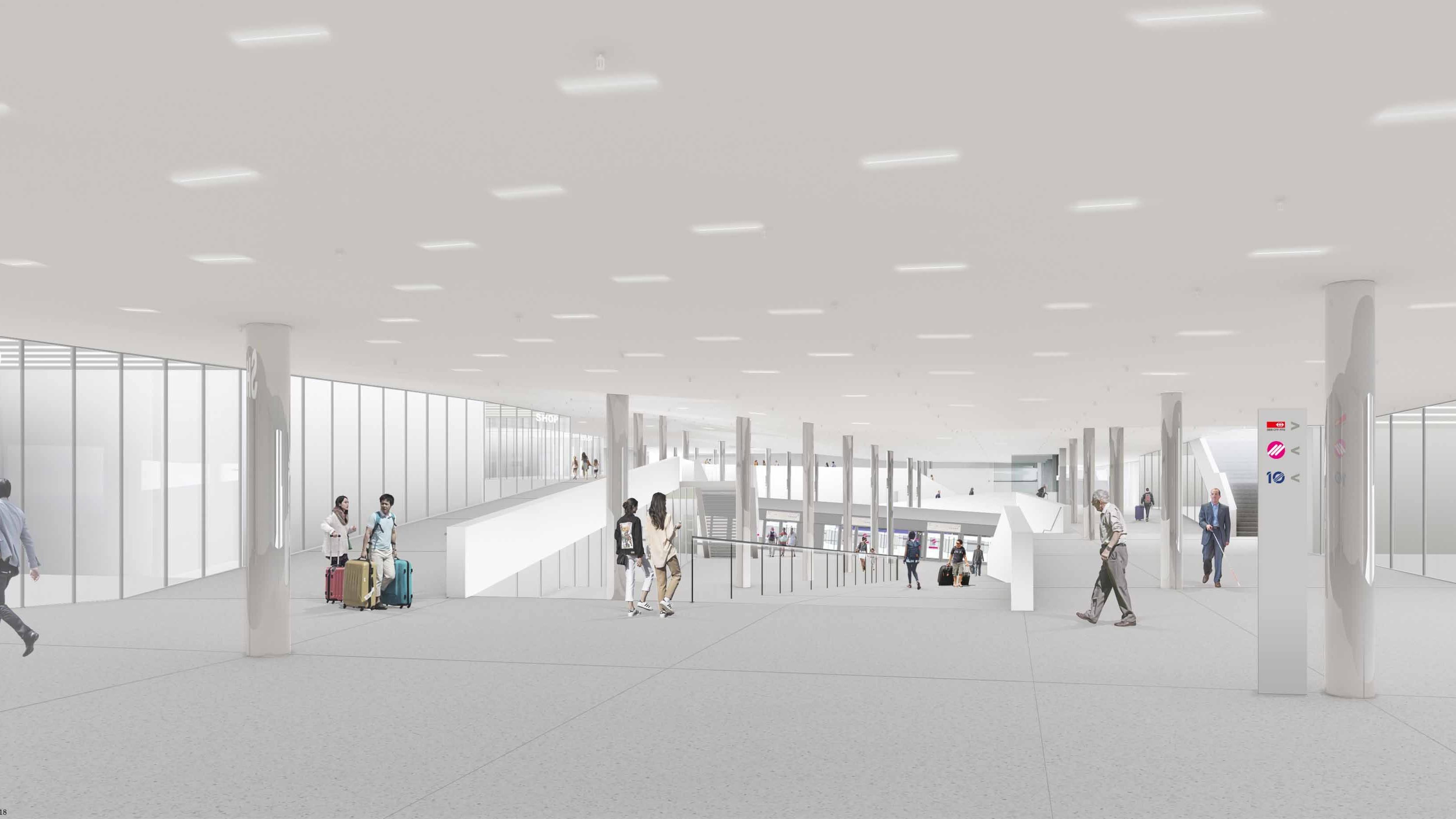 Visualisierung Unterführungen Bahnhof Lausanne