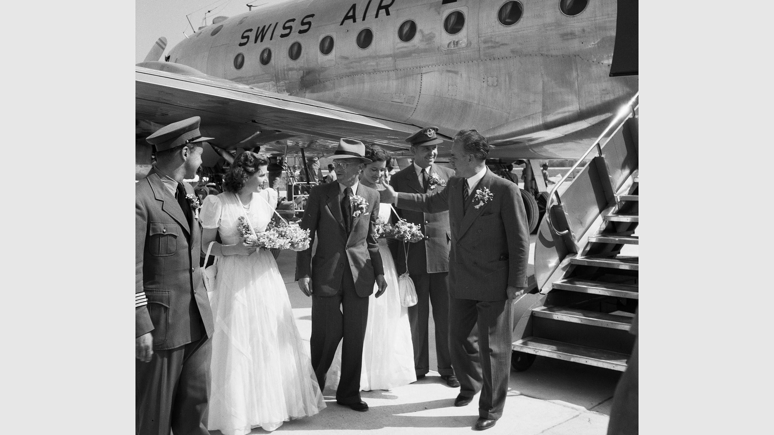 Feierlichkeiten zu Beginn des Flugbetriebes in Zürich-Kloten
