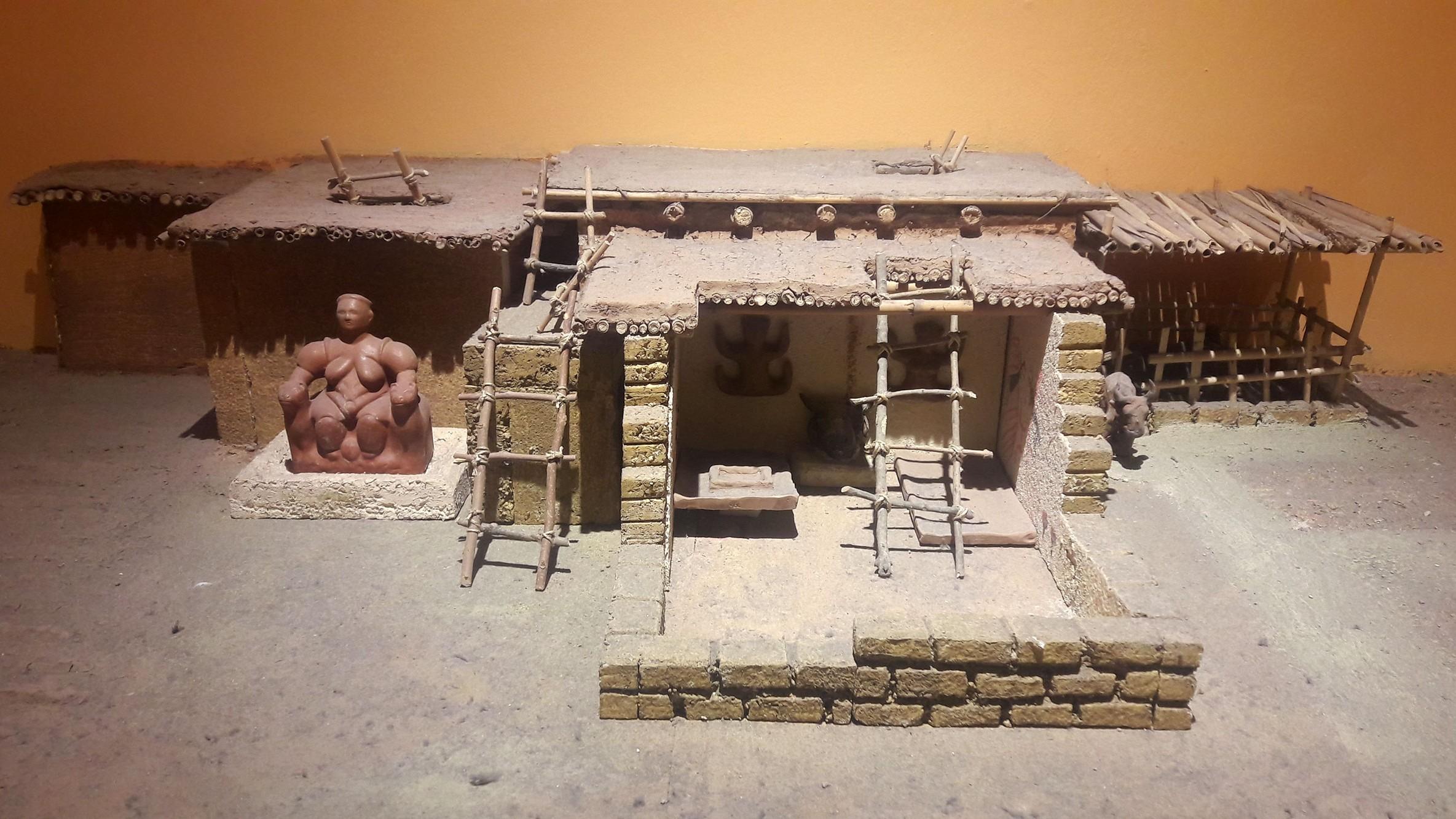 Modell eines Hauses in Catalhöyük