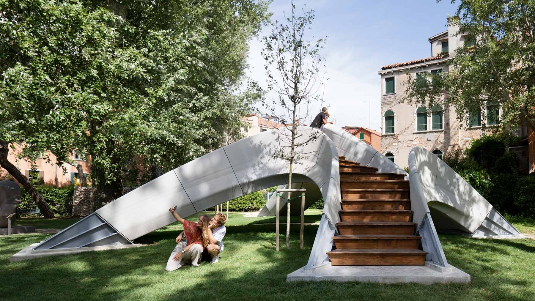 3D-gedruckte Brücke Striatus in Venedig