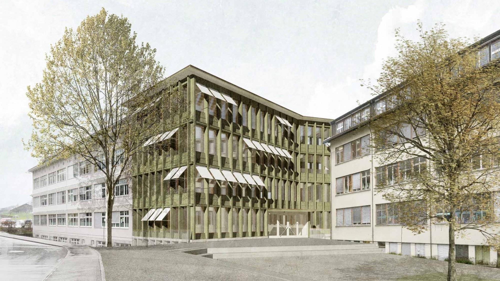Visualisierung Anbau Schulhaus Sidern in Kerns OW