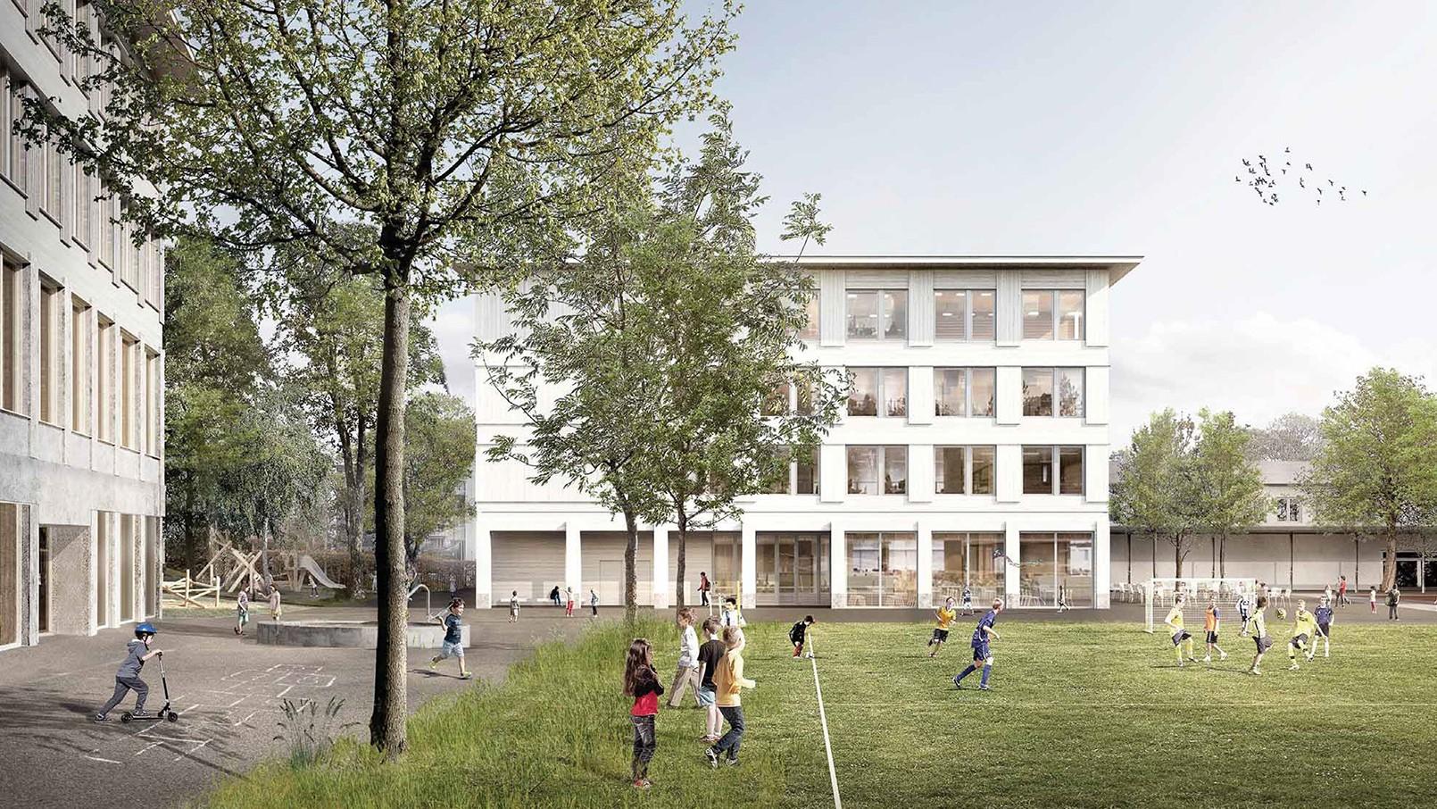 Visualisierung Siegerprojekt Schule Triemli In der Ey -