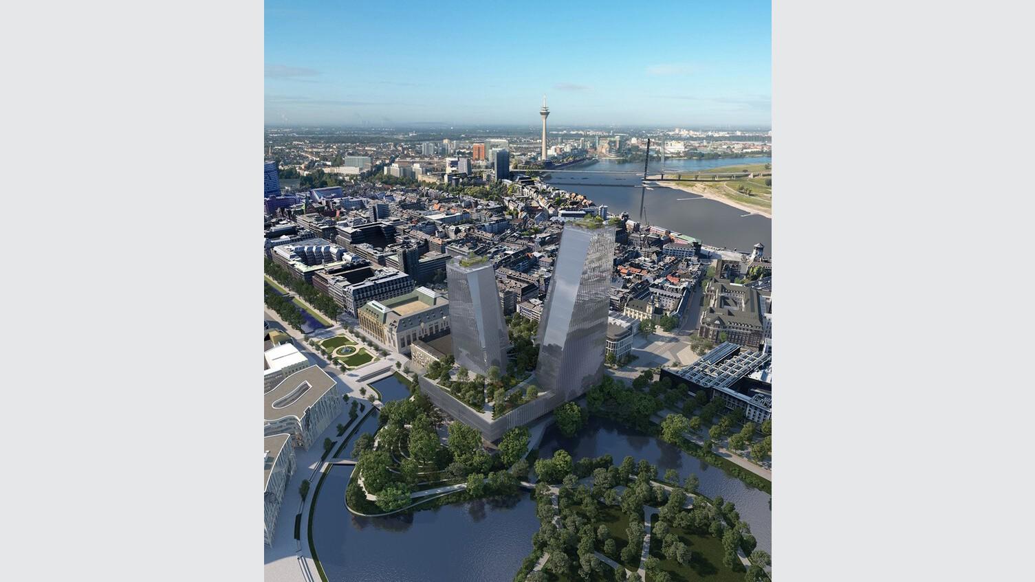 Neue Oper in Düsseldorf (Visualisierung)