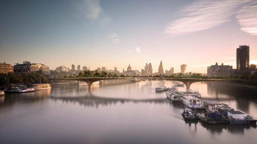 Visualisierund Garden Bridge in London