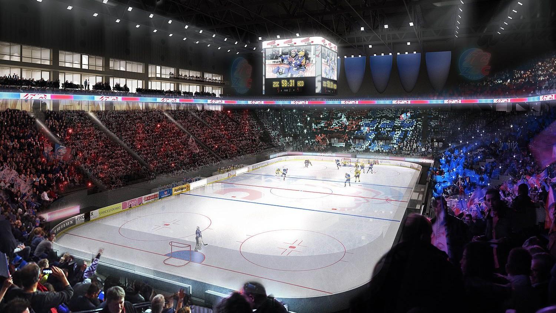 Visualisierung Swiss Life Arena Innenraum